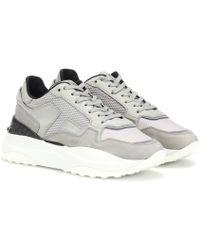 Tod's Sneakers aus Veloursleder - Grau
