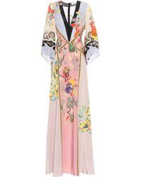 Etro Robe longue en soie - Multicolore