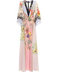 Etro Floral Silk Maxi Dress - Multicolor
