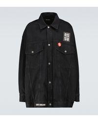 Raf Simons Giacca di jeans oversize - Nero