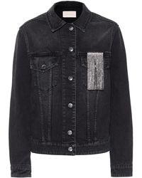 Christopher Kane Crystal-embellished Denim Jacket - Black
