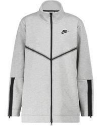 Nike Jacke aus Fleece - Grau