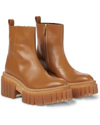 Stella McCartney Plateau-Ankle Boots Emilie - Braun
