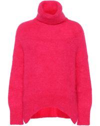 Valentino Mohair-blend Turtleneck Jumper - Pink