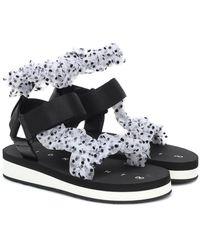 MIDNIGHT 00 Tulle Sandals - Black