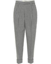 AMI Pantaloni a quadretti in misto lana - Grigio