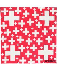 Vetements - Swiss Cross Silk Scarf - Lyst