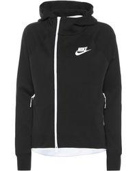 Nike Sportswear Tech Cotton-blend Hoodie - Black