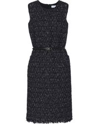 Ferragamo Tweed Midi Dress - Blue