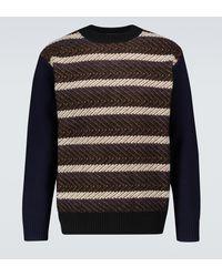 Junya Watanabe Jersey de lana de rayas - Multicolor