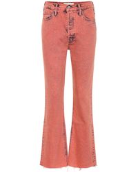 Mother Jeans Tripper bootcut cropped - Rojo