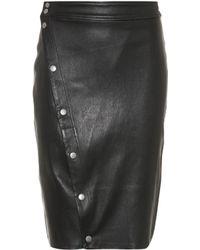 Rag & Bone Baha Leather Skirt - Black