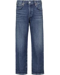 Citizens of Humanity Mid-Rise Cropped Jeans Emery - Blau