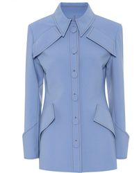 Ellery Anti Hero Stretch Wool-blend Jacket - Blue