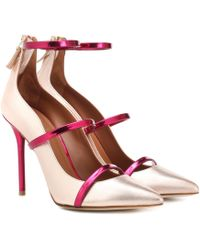 Malone Souliers Robyn 100 Leather Court Shoes - Pink