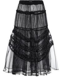 Noir Kei Ninomiya Tulle Maxi Skirt - Black