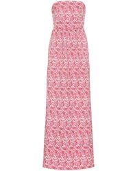 Rebecca Vallance Robe Estelle aus Cloqué - Pink