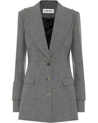 Loewe Wool Blazer - Grey