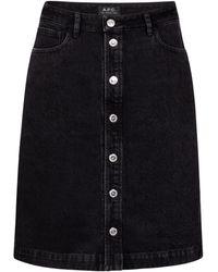 A.P.C. Jupe Therese en jean - Noir
