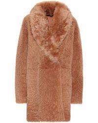 Yves Salomon Reversible Shearling Coat - Brown