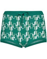 Dodo Bar Or Shorts a vita bassa in maglia jacquard - Verde