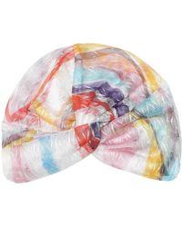 Missoni Turban aus Häkelstrick - Mehrfarbig
