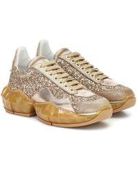 Jimmy Choo 'Diamond' Sneakers mit Glitter - Mettallic