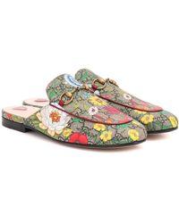 Gucci Princetown GG Flora Slippers - Multicolor