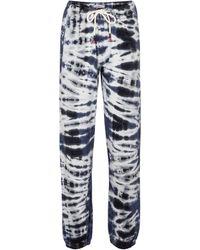 Tory Sport Pantaloni sportivi tie-dye - Blu