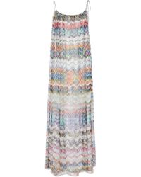 Missoni Robe midi en maille à zigzag - Multicolore