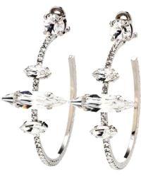 Miu Miu - Embellished Clip-on Hoop Earrings - Lyst