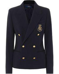 Polo Ralph Lauren Blazer en laine mélangée - Bleu
