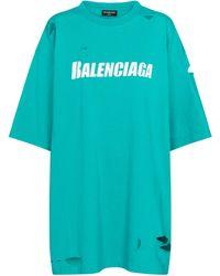 Balenciaga T-Shirt aus Baumwoll-Jersey - Blau