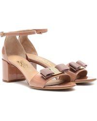 Ferragamo - Gavina 55 Patent Leather Court Shoes - Lyst