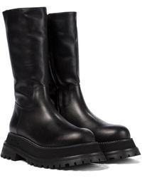 Burberry Botas de piel - Negro