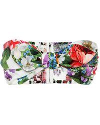Dolce & Gabbana Top a stampa floreale in cotone - Multicolore