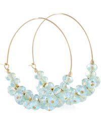 Isabel Marant Argollas con adornos - Azul