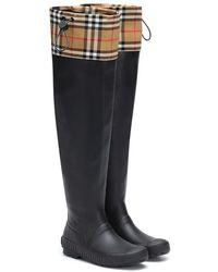 Burberry Stivali in gomma - Nero