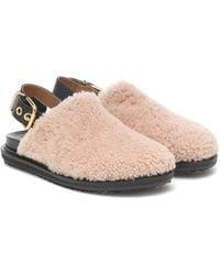 Marni Fussbett Shearling Slippers - Pink