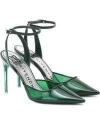 Givenchy Slingback-Pumps mit Leder - Grün