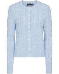 Polo Ralph Lauren Cardigan en coton - Bleu
