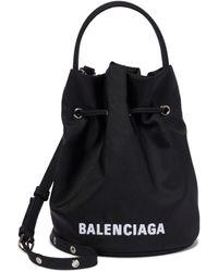 Balenciaga Sac seau Wheel Small - Noir