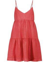 Velvet Mini-robe Emmy en nylon - Rouge