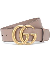 Gucci GG Leather Belt - Pink