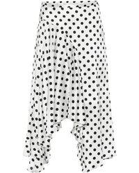 Caroline Constas - Flounce Asymmetric Polka Dot Skirt - Lyst