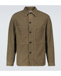 Lemaire Hemdjacke aus Baumwollcord - Mehrfarbig