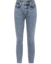 GRLFRND High-Rise Skinny Jeans Karolina - Blau