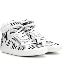 Pierre Hardy - Mytheresa.com exclusive printed leather high-top sneakers - Lyst
