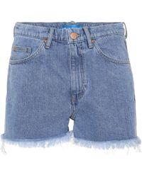 M.i.h Jeans Halsy Cut Off Denim Shorts - Blue