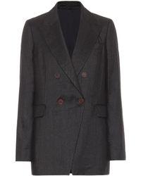 Brunello Cucinelli Double-breasted Blazer - Gray